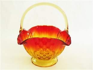 Beautifully crafted AMBERINA GLASS Scalloped edge