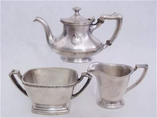 SILVER SOLDERED INDIVIDUAL SIZE HOTEL SERVING LOT