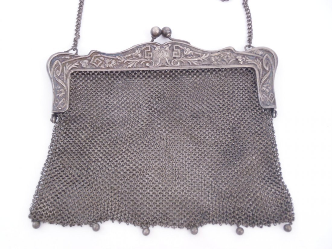 Fabulous Antique Victorian German silver Evening Purse
