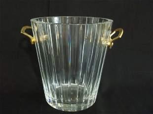 Baccarat HARMONIE Crystal & Bronze Champagne Bucket