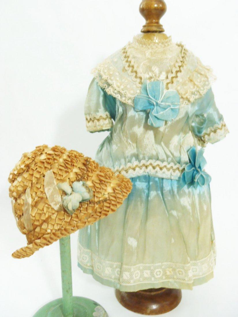 Art Deco Flapper silk BEBE Dress & original Bonnet for