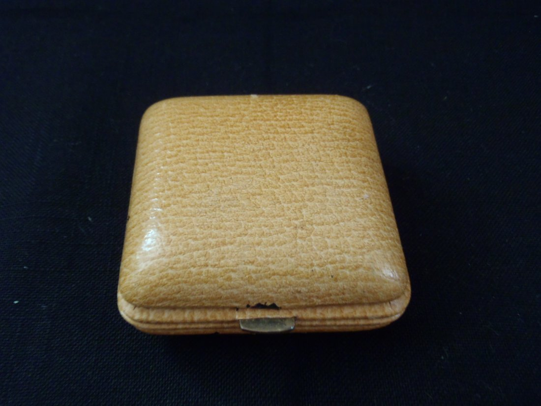 SWIZA 7 Jewels winding ALARM Travel Clock Leather case - 3