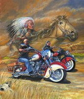 """""""MOTOR"""" MARC """"SPIRIT OF THE ROAD"""" SIGNED L.E. GICLEE'"""