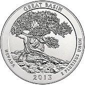 2013 Silver 5oz. Great Basin ATB