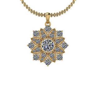 228 Ctw Diamond I2I3 14K Yellow Gold Pendant