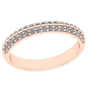 022 Ctw Diamond I2I3 14K Rose Gold Band Ring