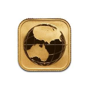Australia 15 10th Ounce Gold BU 20162017 Quadratic Wo