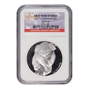 2007 Certified Australian 1 Ounce Silver Koala MS69 NGC
