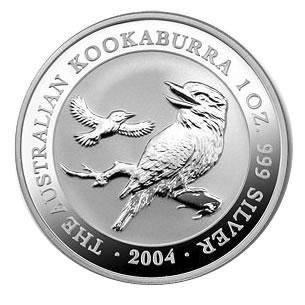 Australian Kookaburra 1 oz Silver 2004