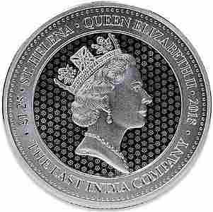 2018 1.25 oz Great Britain St. Helena Guinea Rose Crown