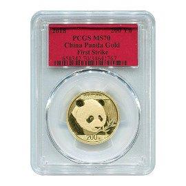 Certified Chinese Gold Panda 15 grams 2018 MS70 PCGS Fi