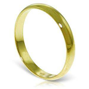14K Solid Gold Wedding Ring 30 mm Wide