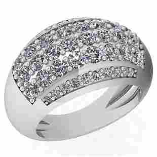 210 Ctw Diamond I2I3 14K White Gold Ring