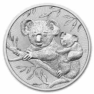 Australian Koala Mother and Baby 2 Ounce Silver 2018