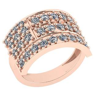 125 Ctw VSSI1 Diamond 14K Rose Gold Ring