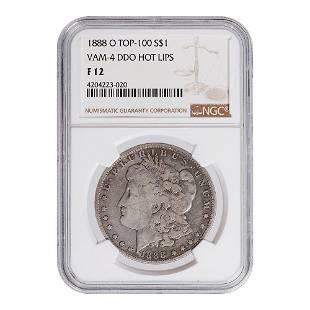 Certified Morgan Silver Dollar 1888O Top 100 VAM4 Hot