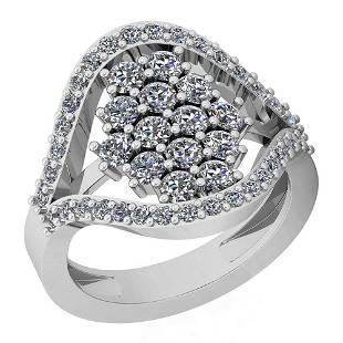 156 Ctw Diamond I2I3 14K White Gold Ring
