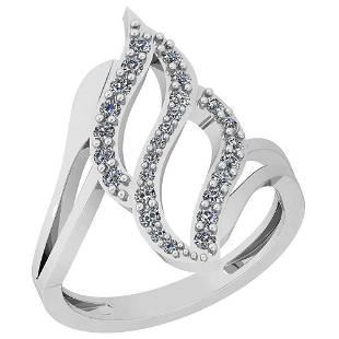 032 Ctw VSSI1 Diamond 14K White Gold Ring