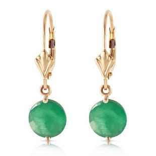 33 Carat 14K Solid Gold Prettygirl Emerald Earrings