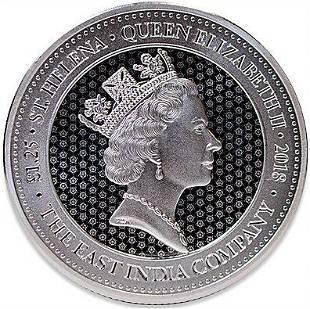2018 125 oz Great Britain St Helena Guinea Rose Crown