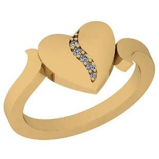 005 Ctw VSSI1 Diamond 14K Yellow Gold Ring