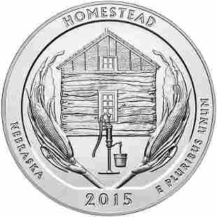 2015 Silver 5oz Homestead National Monument of America