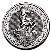 2020 2 oz British Silver Queen?s Beast The White Horse