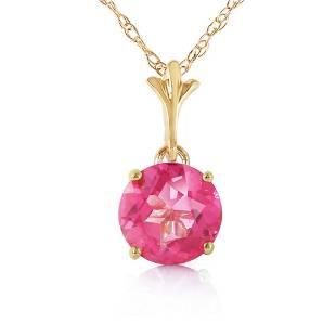 1.15 Carat 14K Solid Gold Elizabeth Bennet Pink Topaz N