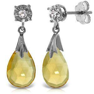 6.06 CTW 14K Solid White Gold Stud Earrings Diamond Cit