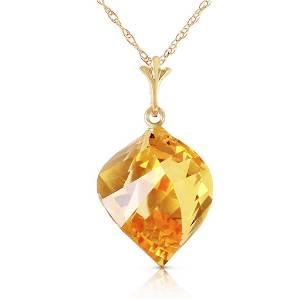 11.75 Carat 14K Solid Gold Necklace Twisted Briolette C