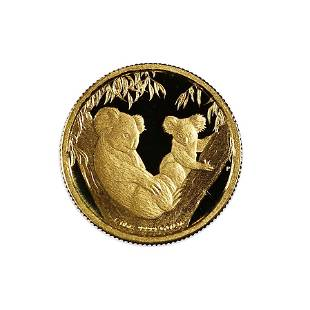 Australia $15 Gold Tenth Ounce PF 2011 Koalas