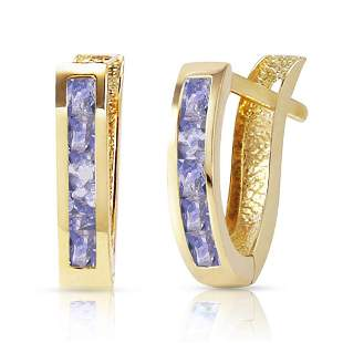 0.95 CTW 14K Solid Gold Felicity Tanzanite Earrings