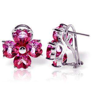 7.6 Carat 14K Solid White Gold French Clips Earrings Na