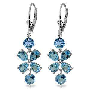 5.32 Carat 14K Solid White Gold Chandelier Earrings Nat