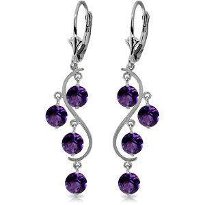 4.95 Carat 14K Solid White Gold Stately Heart Amethyst