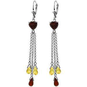 9.5 Carat 14K Solid White Gold Chandelier Earrings Brio