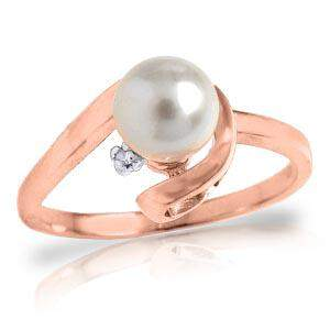1.01 Carat 14K Solid Rose Gold Ring Natural Diamond pea