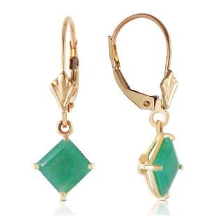 2.9 Carat 14K Solid Gold Kaylynne Emerald Earrings