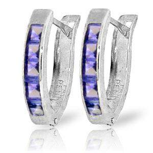 0.95 Carat 14K Solid White Gold Consequences Tanzanite