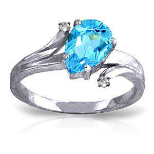 1.51 CTW 14K Solid White Gold Only Hold You Blue Topaz