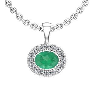 2.68 Ctw Emerald And Diamond I2/I3 14K White Gold Victo