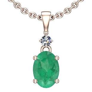 4.25 Ctw Emerald And Diamond I2/I3 14K Rose Gold Victor