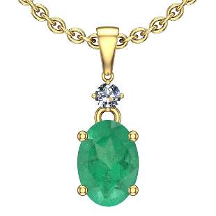 4.25 Ctw Emerald And Diamond I2/I3 14K Yellow Gold Vict