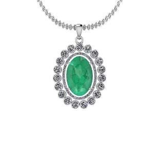 5.17 Ctw Emerald And Diamond I2/I3 14K White Gold Victo