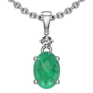 4.25 Ctw Emerald And Diamond I2/I3 14K White Gold Victo