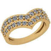 0.51 Ctw VS/SI1 Diamond 14K Yellow Gold Ring