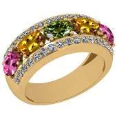 1.45 Ctw I2/I3 Multi Sapphire And Diamond 10K Yellow Go