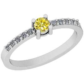 0.34 Ctw Treated Fancy Yellow And White Diamond I1/I2 1