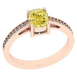 1.15 Ct GIA Certified Natural Fancy Yellow Diamond And