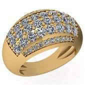 2.10 Ctw Diamond I2/I3 14K Yellow Gold Ring